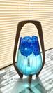 1点限り【ブルーダリア】キャンドルホルダー(ドバイのインテリアショップでガラス購入)|母の日プレゼント・お誕生日プレゼント・新居祝い