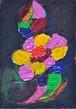 不可思議な花弁(アクリル絵画)