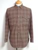 1950's PENDLETON オンブレチェックウールシャツ モカブラウン 表記(M) ペンドルトン