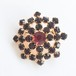 dark red rhinestone brooch[b-209]
