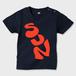 SSSSSSSSUN かわいいキッズTシャツ ネイビー ※お肌にやさしい キッズTシャツ ネイビー キッズ70 ガーメントインクジェット印刷