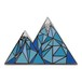 "Real Sic""Geometric Mountain – Colorado / Mountain Life Enamel Pin"""