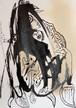 ◆親知らずを抜くと世界に発信【根本敬B6ドローイング&コラージュ】※清山飯坂温泉芸術祭に展示中