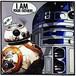 R2-D2 & BB-8 スターウォーズ ポップアートパネル 26×26cm @S-18