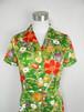 レトロ小紋のオープンカラーワンピース Open collar Shirt dress LO-173/M