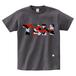 TSUBOMIN / CAMO TBM LOGO T-SHIRT CHARCOAL x RED CAMO