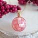〈女神巻き®〉モザイクシェルのひと粒ビーズペンダントトップ(ピンク)