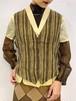 (TOYO) stripe pattern vest