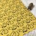 ゆる~いカピバラのカットクロス 約30×35cm 【かぼちゃイエロー】シーチング生地 ハギレ