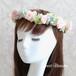 【プリザーブドフラワー】 ピンクのミニバラの花冠 * ウエディングの髪飾り