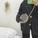 韓国ガールのクリアラウンドバッグ
