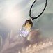 ゆらめく宇宙のガラスペンダント/【宇宙の鉱石、試作、わけあり品】00302-4