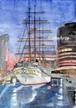 横浜/船のある風景