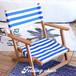 ストライプフォールディングデッキチェア  【送料無料】ストライプ デッキチェア 椅子 快適 持ち運び 日光浴 ガーデンチェア 折りたたみ おしゃれ マリン ガーデン 西海岸風 海 ビーチ アウトドア キャンプ カリフォルニア風 インテリア ウッド 夏 フェス サマー 海水浴