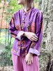 Vintage Silk Floral Pattern China Shirt