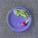 茄子紺釉小皿