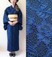 2分で着れるかんたん浴衣と作り帯のセット(ブルー)