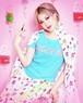 カプセルTシャツ(Black,White,Pink,TurquoiseBlue)