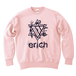 ERICH / HEXAGRAM LOGO CREWNECK SWEAT LIGHT-PINK