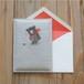クマのぷっくりカード(二つ折り)