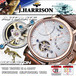 【J.HARRISON】 JH-040PW 自動巻&手巻 ジャンピング式日付、曜日表示・ビッグテンプ付き