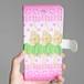 (iPhone)フラガールピンク 手帳型スマホケース