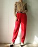 tapered red pants