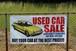 バナー USED CAR SALE 黄色のクルマ (中古車・バナー・USA・アメリカ)