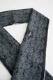 グラースオリジナル半衿 ダマスク×ユニコーン 濃いグレー ポリエステル100%
