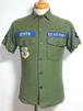 1960's U.S.AIR FORCE コットンファティーグシャツ カットオフ半袖 表記(13 1/2) アメリカ軍 レアサイズ