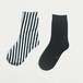 METAL SOX (STRIPE) BLACK X SILVER