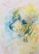 似顔絵セミオーダー絵画【☑︎仮額︎︎︎︎︎︎︎︎︎︎︎︎☑size-A5☑︎土佐和紙包装☑︎描き直し工程なし】