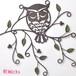 ウォールデコレーション 壁飾り リーフ ふくろう フクロウ 梟 オウル レトロ アイアン 小 黒 おしゃれ 雑貨