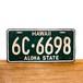 Hawaii license plates / 1960 / 6C-6698