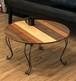 78.シャビー、ヴィンテージ調の猫脚がオシャレなカフェ系ローテーブル(折り畳み)