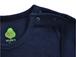 """やわらか上質コットン100%の長袖Tシャツ""""カエル""""(ネイビー)[お名前タグ付]"""