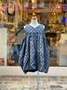 KIDS:frankygrow  BONBON CUT JQ V-NECK DRESS(S/90,M/110cm,L/130cm)