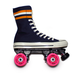 "SM "" NAVY STAR "" Canvas Quad Roller Skate"