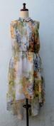 イギリス ワンピース ドレス シフォン USED