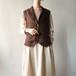 Cotton knit vest
