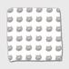 ブリショのムチャ ハンドタオル 白色