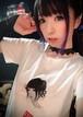 MiKAモノクロームフォトTシャツ