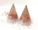 ヒマラヤピンク岩塩の盛り塩ペアオルゴナイト