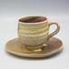 自然釉コーヒカップ&ソーサーセット〈OS-D01-2〉