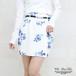 花柄タックコクーンスカート※ベルト付き【PS9026S】