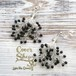 Coralreef motif Pierce -Silver&Black-