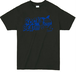 ROCK BEAT Tシャツ【BLACK×BLUE】