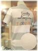 【 CASTELBAJAC 】 - Italy - カステルバジャック       半袖Tシャツ           ボーダー × バックプリント柄