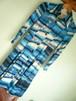 昭和 レトロ ビンテージ 細身シルエット ワンピース / 60s 70s OLD レトロ サイケ 国産 デカエリ ロングポイント
