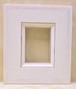 ミニ額ホワイトB-31014額縁寸法80mm×60mm/窓枠寸法54mm×34mm箱付き/卓上壁掛け兼用